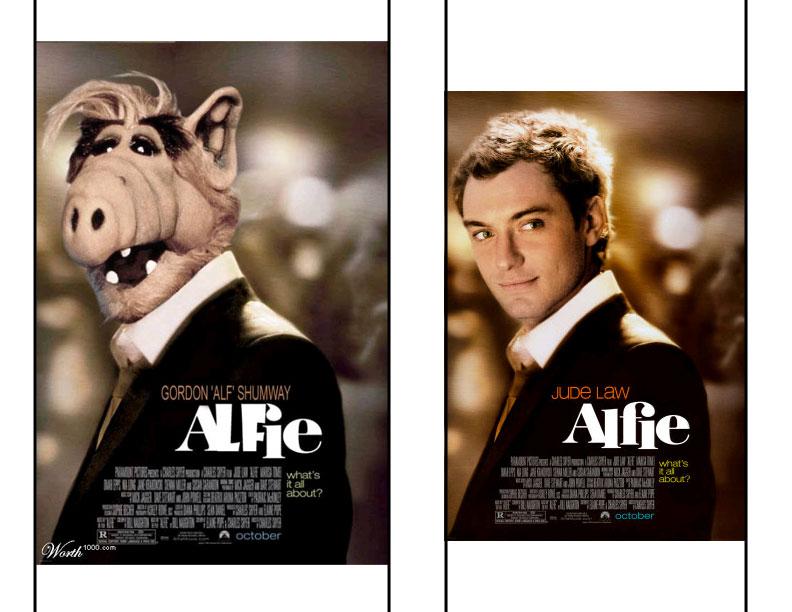 Photoshopped Alfie Poster